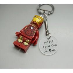 porte clé Lego Captain America à personnaliser