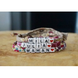 bracelet étoile prénom
